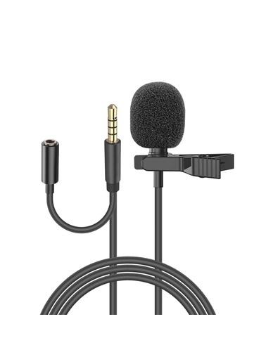 Snopy Sn-Mtk25 Siyah Akıllı Telefon, Tik-Tok Ve Youtuber Metal Mandallı Yaka Mikrofonu Renkli